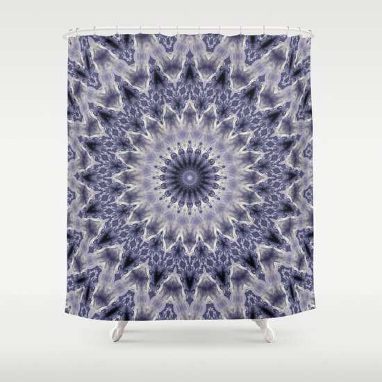 Purple Gray Mandala Shower Curtain By Temas14mk