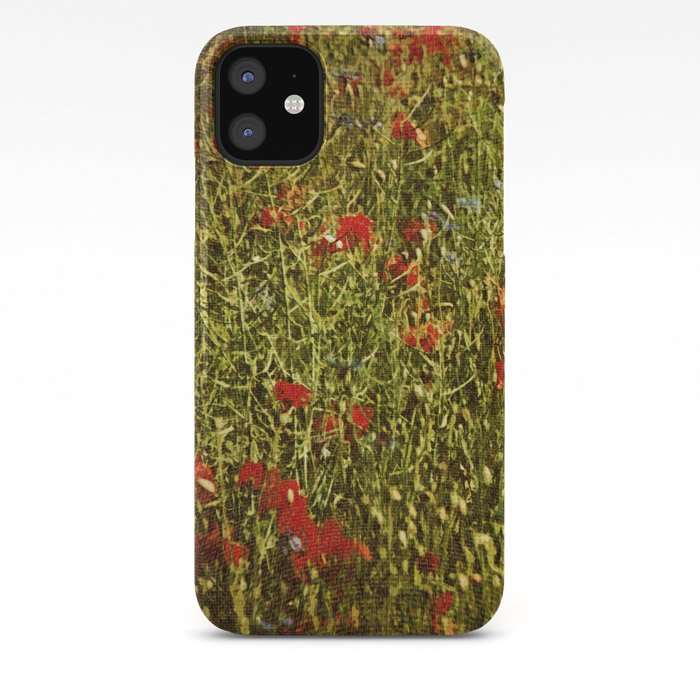 Sommerfeld MIT roten und blauen Blumen iPhone Case