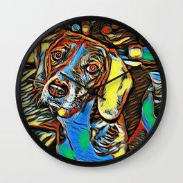 Dreaming Beagle Wall Clock