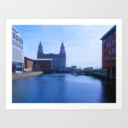 Liver Building from Princes Dock Art Print