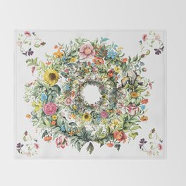 Circle of Life Cream Throw Blanket