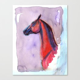 The Red Horse Canvas Print