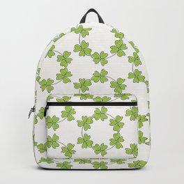 four-leaf clover leaves pattern Backpack