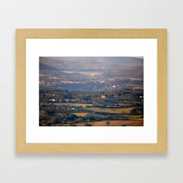 Italian countryside view Framed Art Print