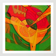 Tropical Farm Woman Art Print