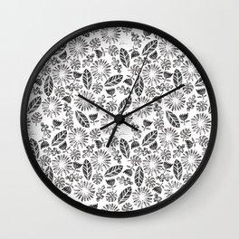 Folium Pattern I Wall Clock