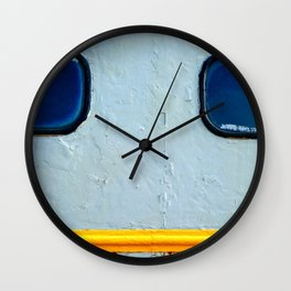 Old Diesel Locomotive Abstract Wall Clock