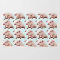 pigs Area & Throw Rugs featuring Pigs by Dora Birgis