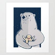 polar bear and gingerbread man Art Print