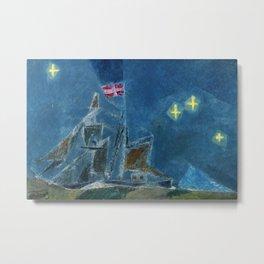 Ship of Stars No. II nautical landscape painting by Lyonel Feininger Metal Print