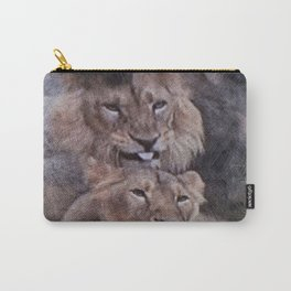 Lions in Love Carry-All Pouch