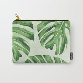Green Monsteras Carry-All Pouch