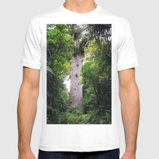 The World's Oldest Wood, Ancient Kauri White MEDIUM Mens Fitted Tee