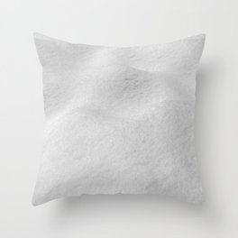 Fresh Snow // Snowy Powder Winter Landscape Photo Snowboarder Vibes Ski Season Poster Throw Pillow