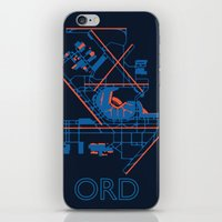 60s iPhone & iPod Skins featuring O'Hare (ORD) - 60s by Kyle Rodgers