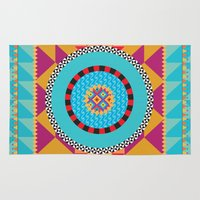 art deco Area & Throw Rugs featuring Deco Art by MadTee