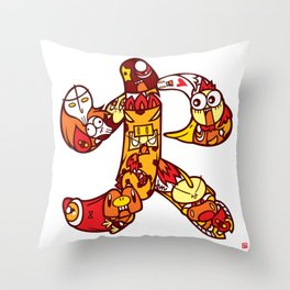 火  - FIRE Throw Pillow