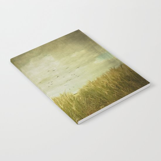 Vintage Wheat Field Notebook
