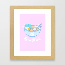 Cute Ramen Framed Art Print