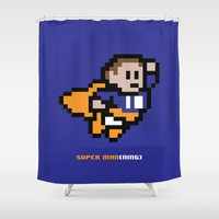 8-Bit: Super Man(ning) Shower Curtain