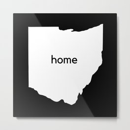 Ohio Home State Map Gifts Metal Print