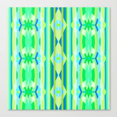 Blue yellow and green abstract Canvas Print
