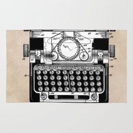 patent art typewriter Rug