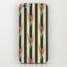 Spring flowers. Tulips are red. Retro. iPhone & iPod Skin