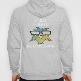 100 Days of School Survived 100 Days of Me Bird Hoody