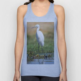 Fishing bird Unisex Tank Top