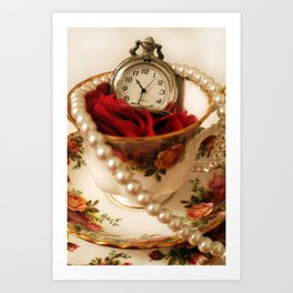 Time For Tea & Pearls!  Art Print