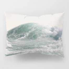 Waves and Sunrise Happy Summer Photography Ocean Beach Vibes Tropical Water Sea Pillow Sham