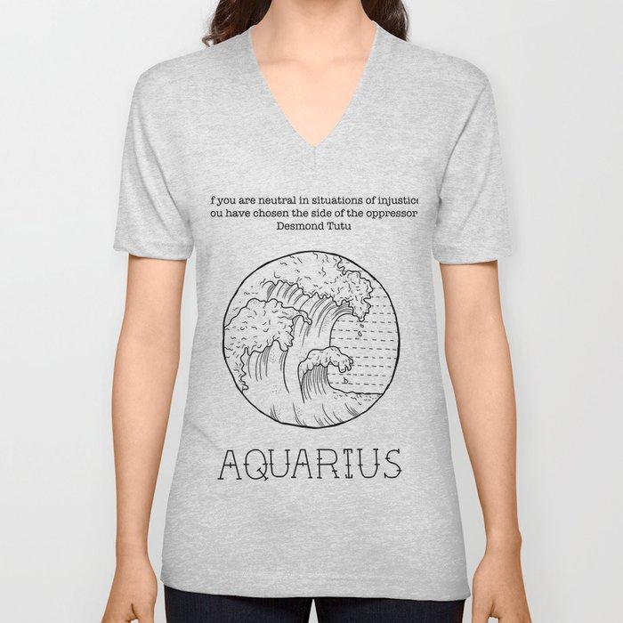Aquarius Unisex V-Neck