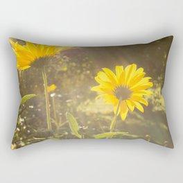 sunflower in the park Rectangular Pillow
