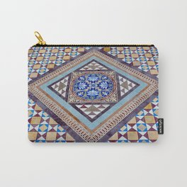 Beautiful, Traditional, Indian Tile Work in Hyderabad, India Carry-All Pouch