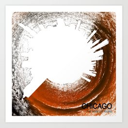 Planet Chicago - Abstract Art Print