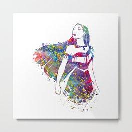 Princess Pocahontas Metal Print