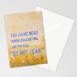 Lamentations 3:57 Stationery Cards