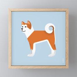Akita Framed Mini Art Print