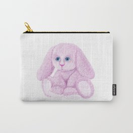 Cute Pink Bunny Rabbit Carry-All Pouch