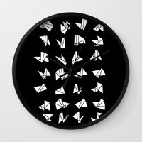 origami Wall Clocks featuring origami by spinL