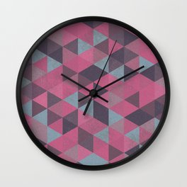 Abstract Triangles Wall Clock