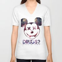 mouse V-neck T-shirts featuring mouse by jeff'walker