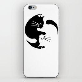 Cat ying yang iPhone Skin