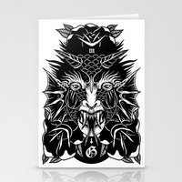 demon Stationery Cards featuring Demon by MIRKOW GASTOW