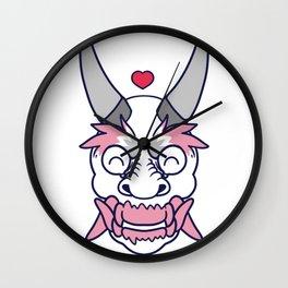 DEMI GIRL PRIDE Oni Wall Clock