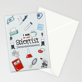 I Am a Lab Scientist Stationery Cards