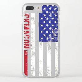 Brickmason US Flag v2  Clear iPhone Case