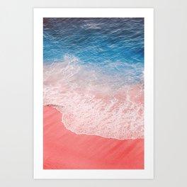 I am the Pink Beach Art Print