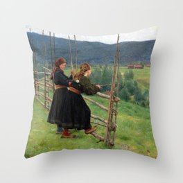 Erik Werenskiold September Throw Pillow